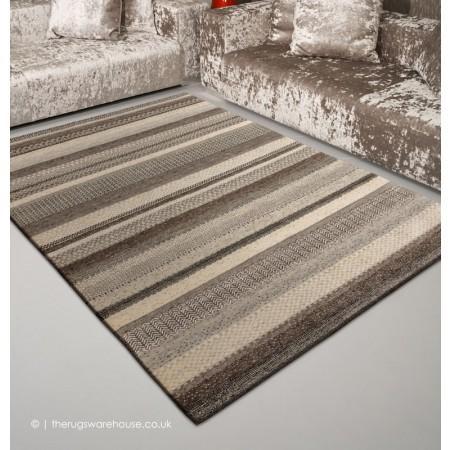 Ocean Stripes Grey Rug