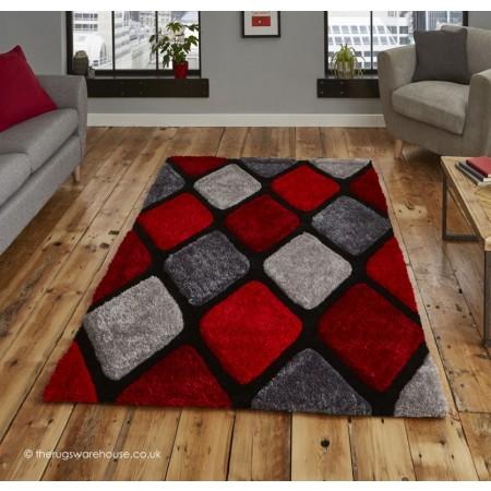 Melio Grey Red Rug