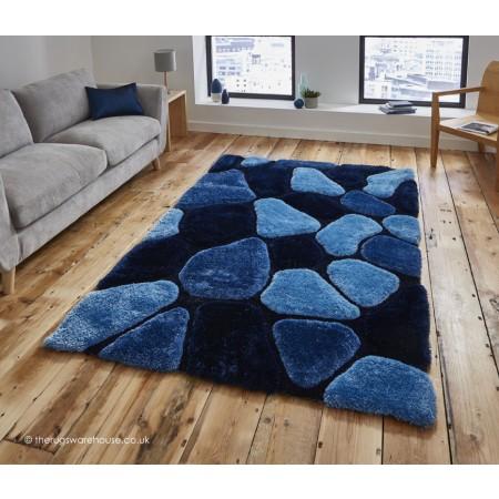 Cobbles Blue Rug