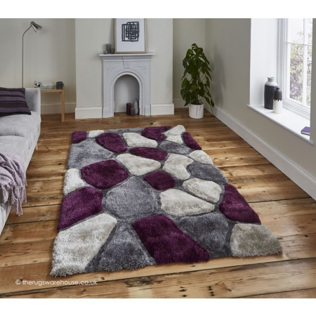 Cobbles Grey Purple Rug