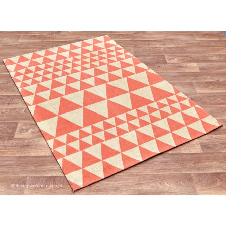 Triangles Flame Rug