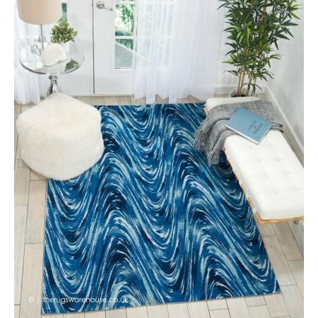 Wave Sync Blue Rug