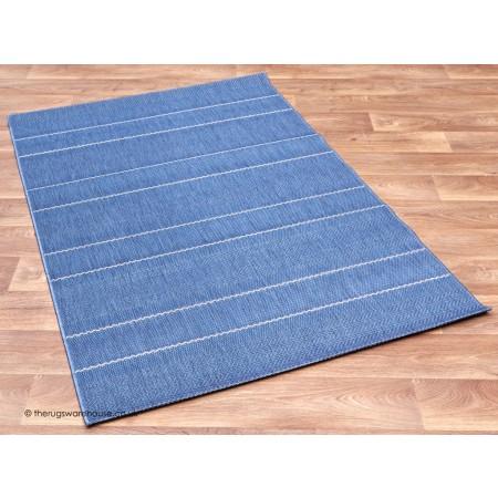 Patio Stripes Blue Rug