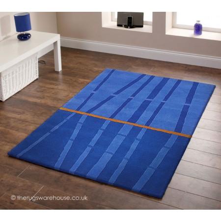 Bamboo Blue Rug