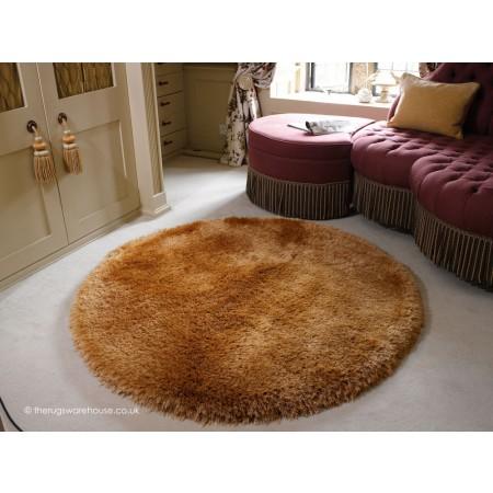 Pearl Caramel Circle Rug