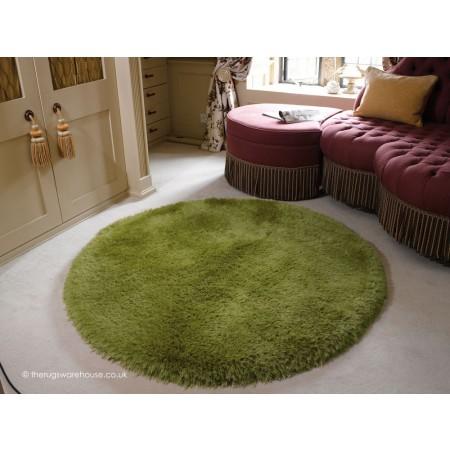 Pearl Green Circle Rug