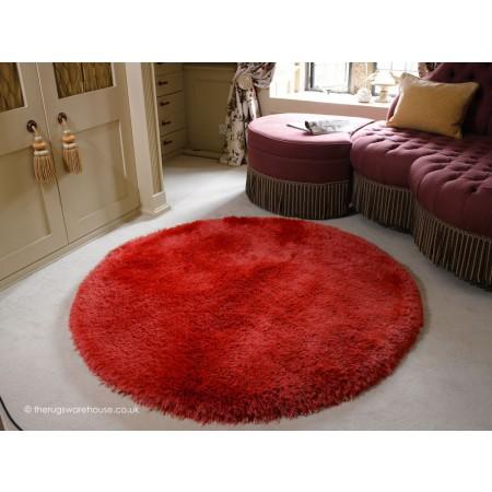Pearl Red Circle Rug