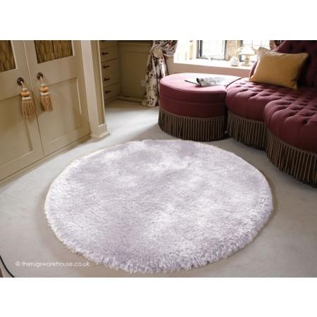 Pearl Silver Circle Rug