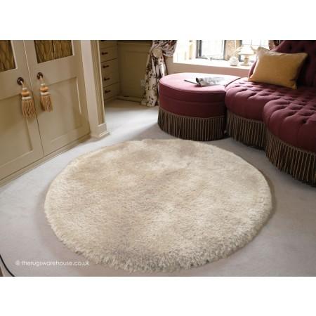 Pearl White Circle Rug