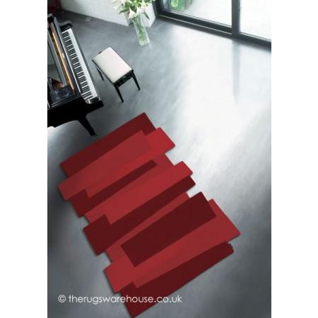 Red Steps Rug