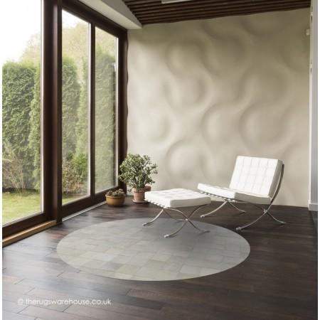 Chantilly Blanc Circle Rug