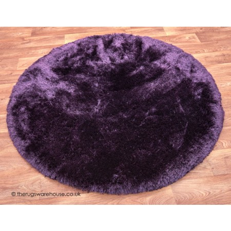 Plush Purple Circle Rug