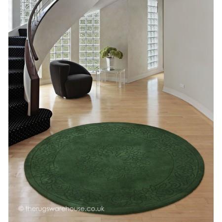 Royale Green Circle Rug