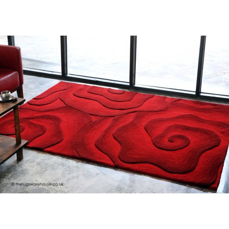 Rosario Floral Red Rug