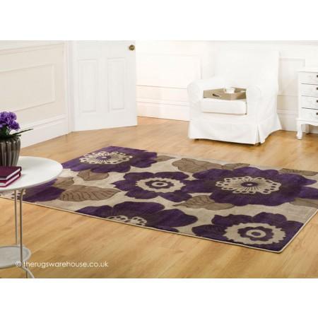Purple Blossom Rug