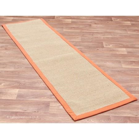 Sisal Linen Orange Runner