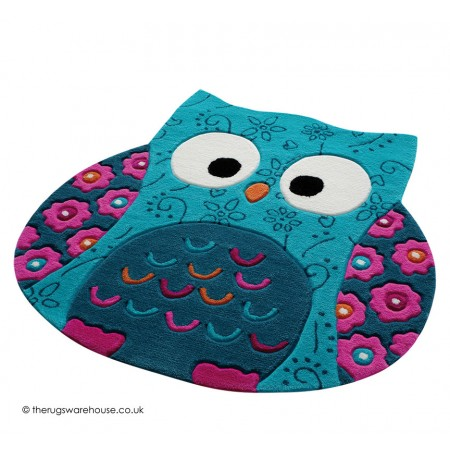 Little Owl Blue Rug