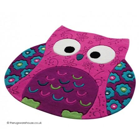 Little Owl Pink Rug