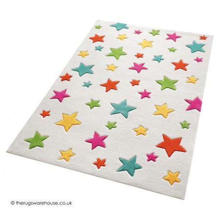 Simple Stars Cream Rug