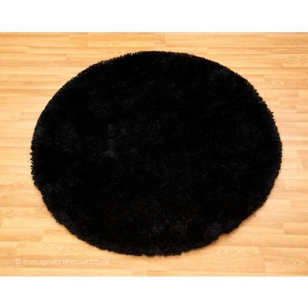 Starlet Black Circle Rug