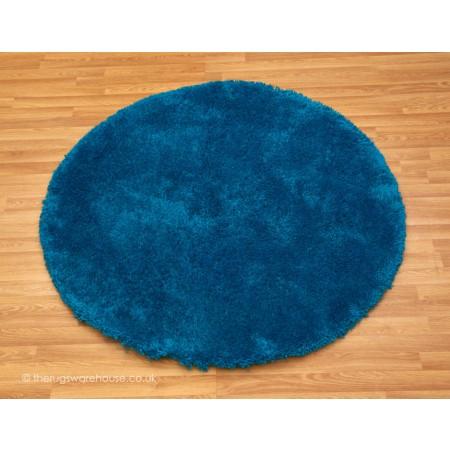 Starlet Blue Circle Rug