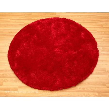 Starlet Red Circle Rug