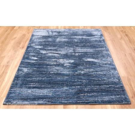 Strata Stripes Blue Rug