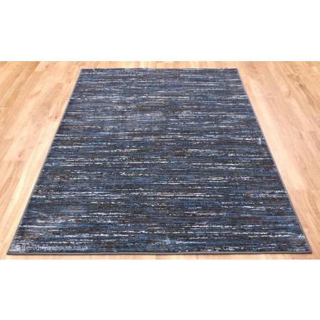 Strata Stripes Blue Brown Rug