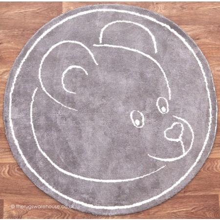 Teddy Beige Circle Rug
