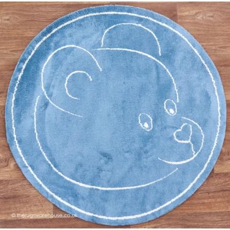 Teddy Blue Circle Rug