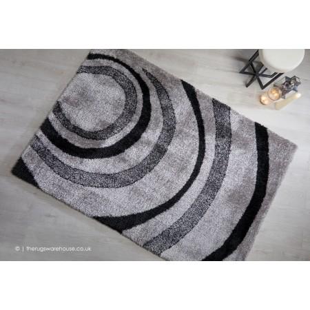 Velvet Droplet Grey Rug