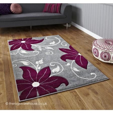 Menia Grey Purple Rug