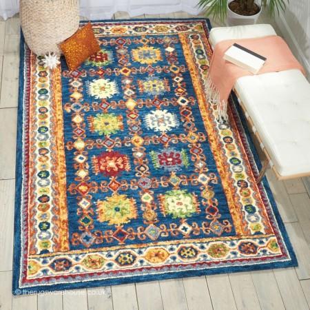 Vibrant Oriental Blue Rug