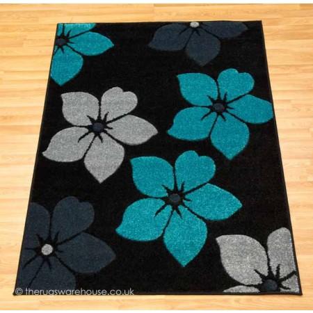 Fleur Black Rug