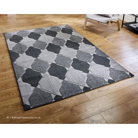 Convex Grey Rug