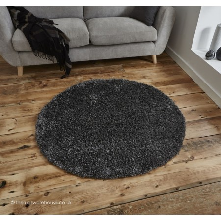 Vista Dark Grey Circle Rug
