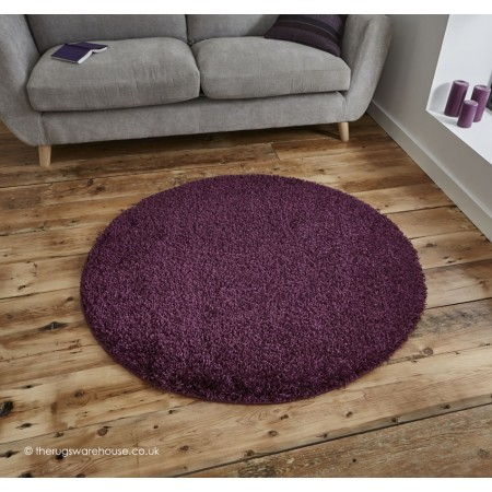 Vista Purple Circle Rug