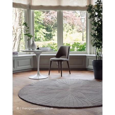 Folia Grey Circle Rug