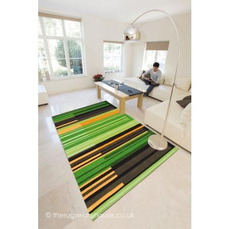 Green Colour Codes Rug