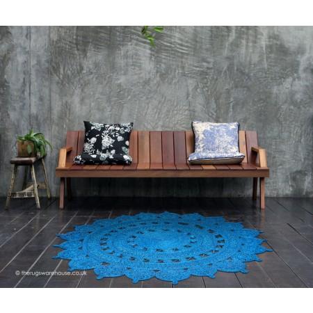 Zira Blue Circle Rug