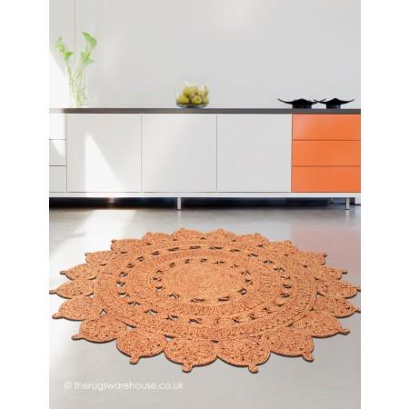 Zira Rust Circle Rug