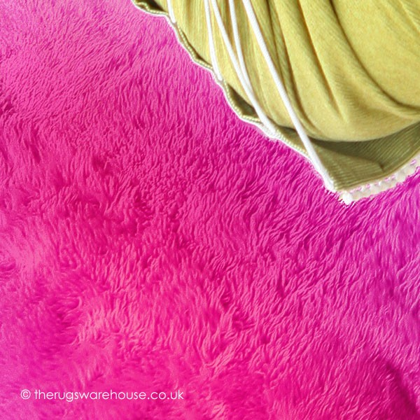 Pink Sheepskin Rug