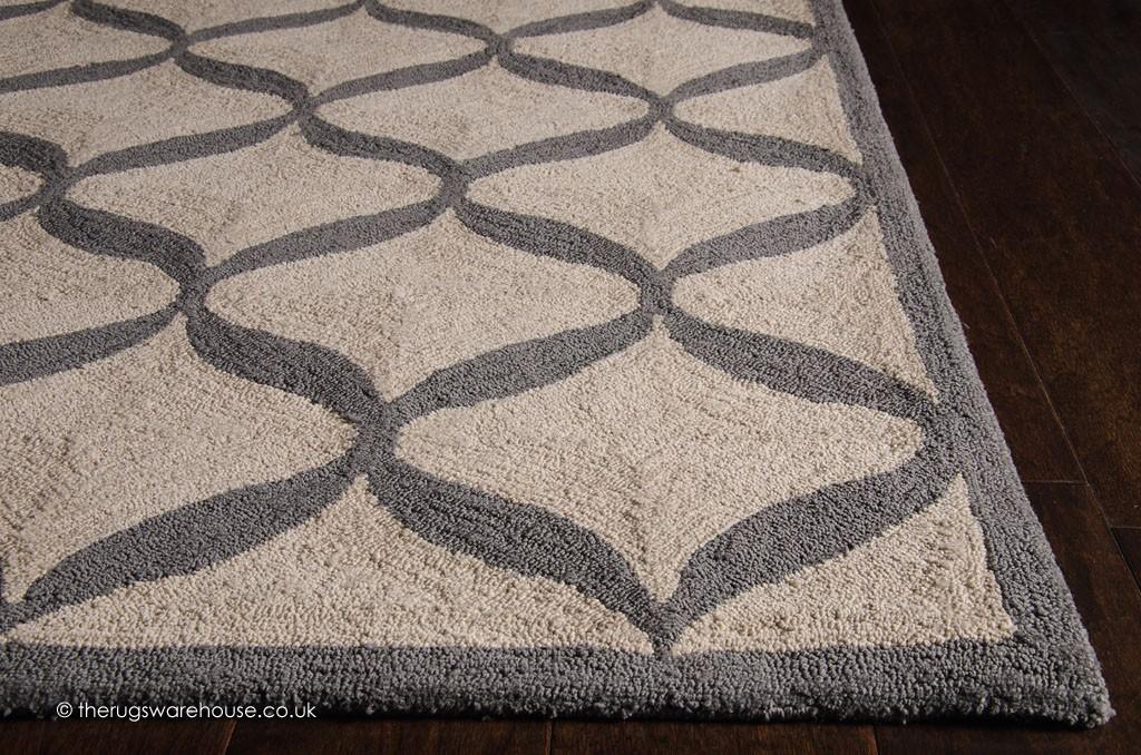 decor white grey rug. Black Bedroom Furniture Sets. Home Design Ideas
