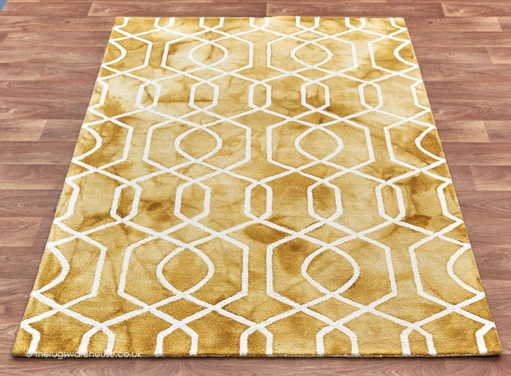 Fresco Yellow Rug Gold Rugs