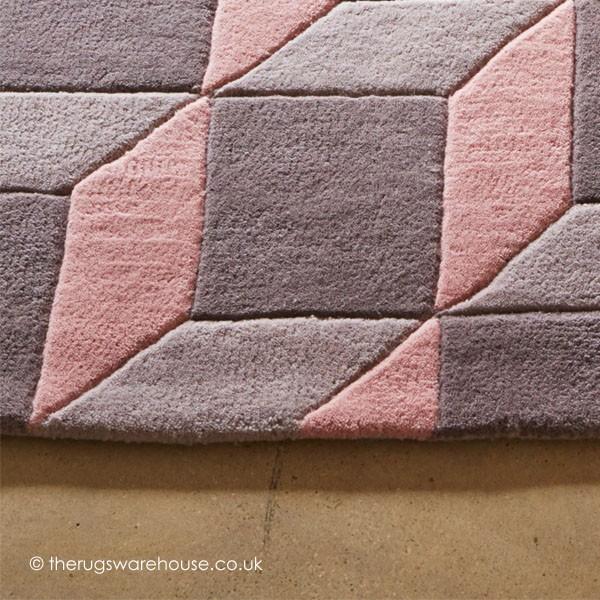 Blocks Pink Rug