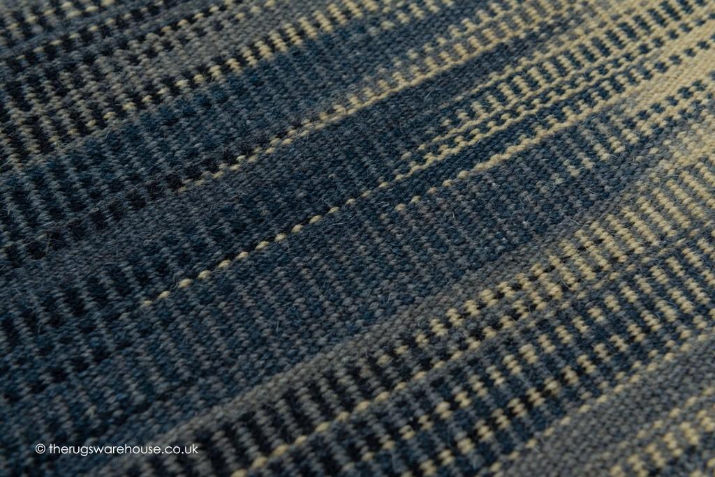 Ikat Indigo Kilim Rug Flat Woven Rugs