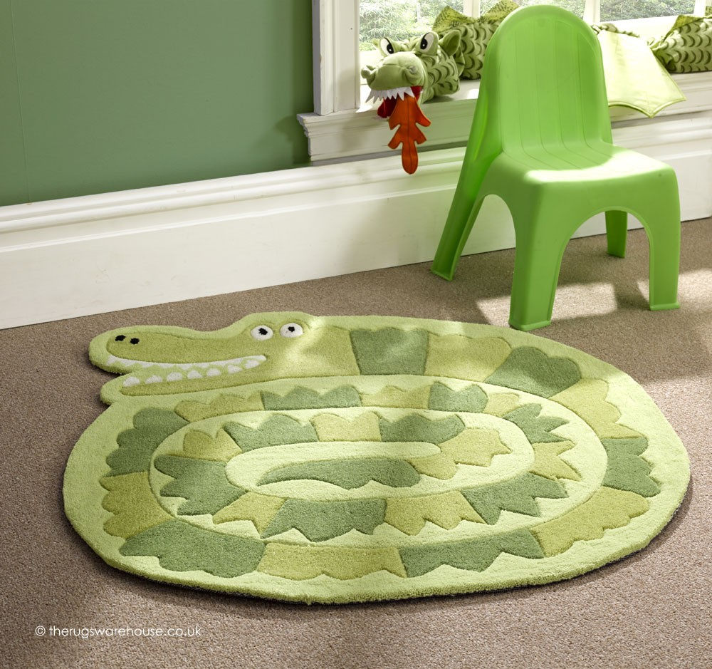Green Crocodile Rug