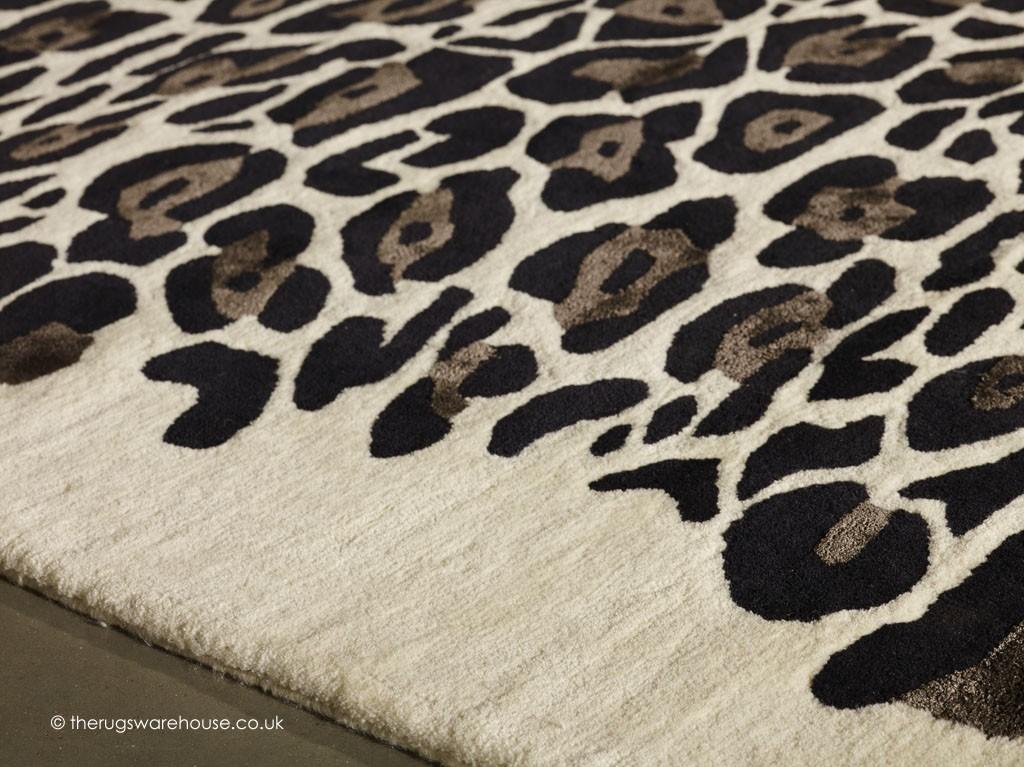 Leopard Black Rug Animal Print Rugs
