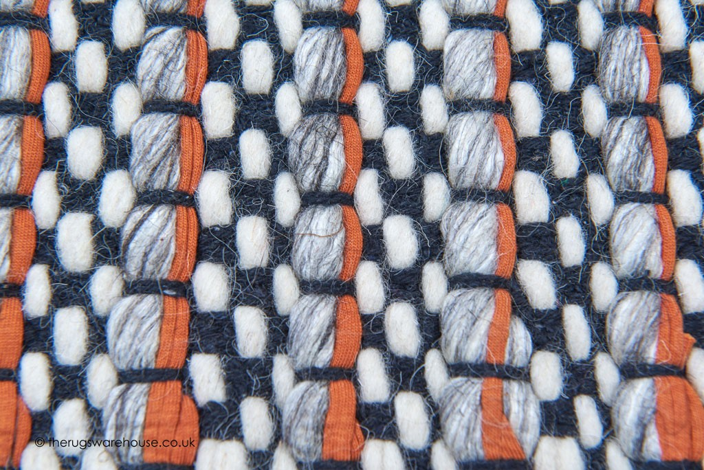 Linden Orange Runner Orange Terracotta Rugs