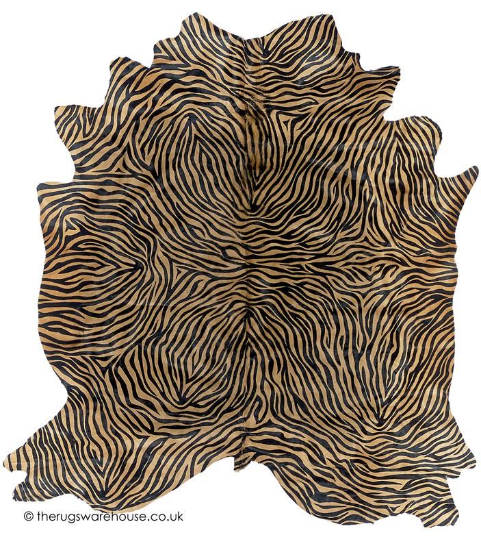 Zebra Rug Large: Pelle Zebra Maxi Champagne Rug